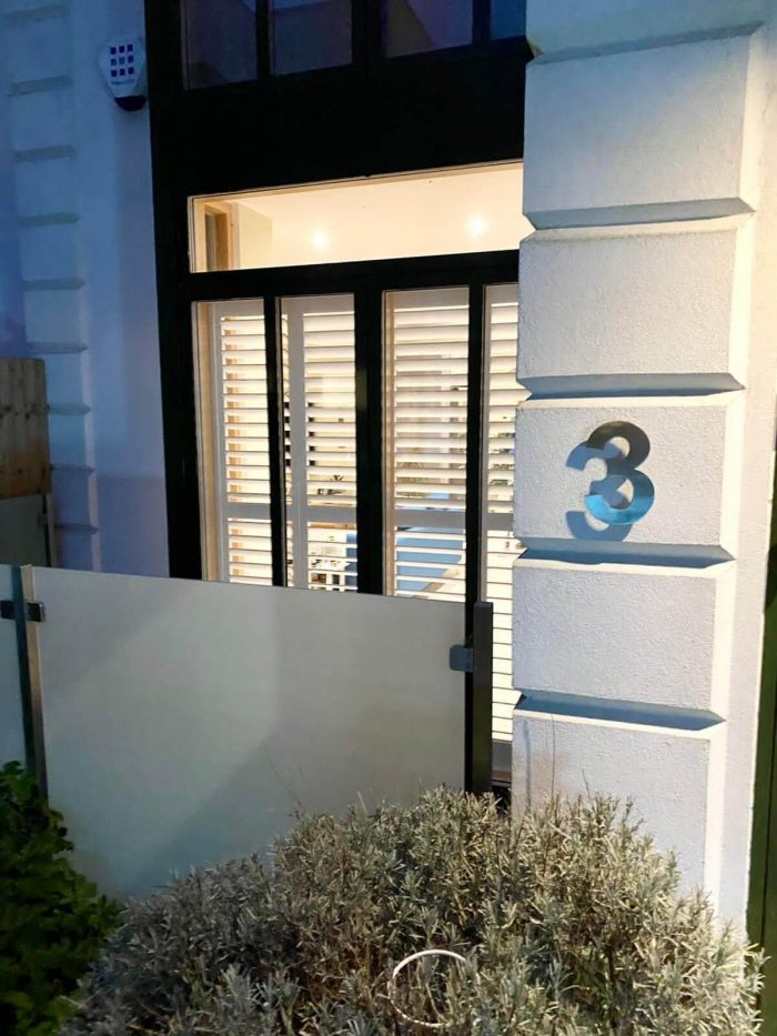 Full Height privacy shutters Harley Street London