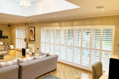 Tracked system shutters for bi-fold doors in Coney Hall